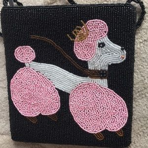 Bags - Small poodle beaded purse